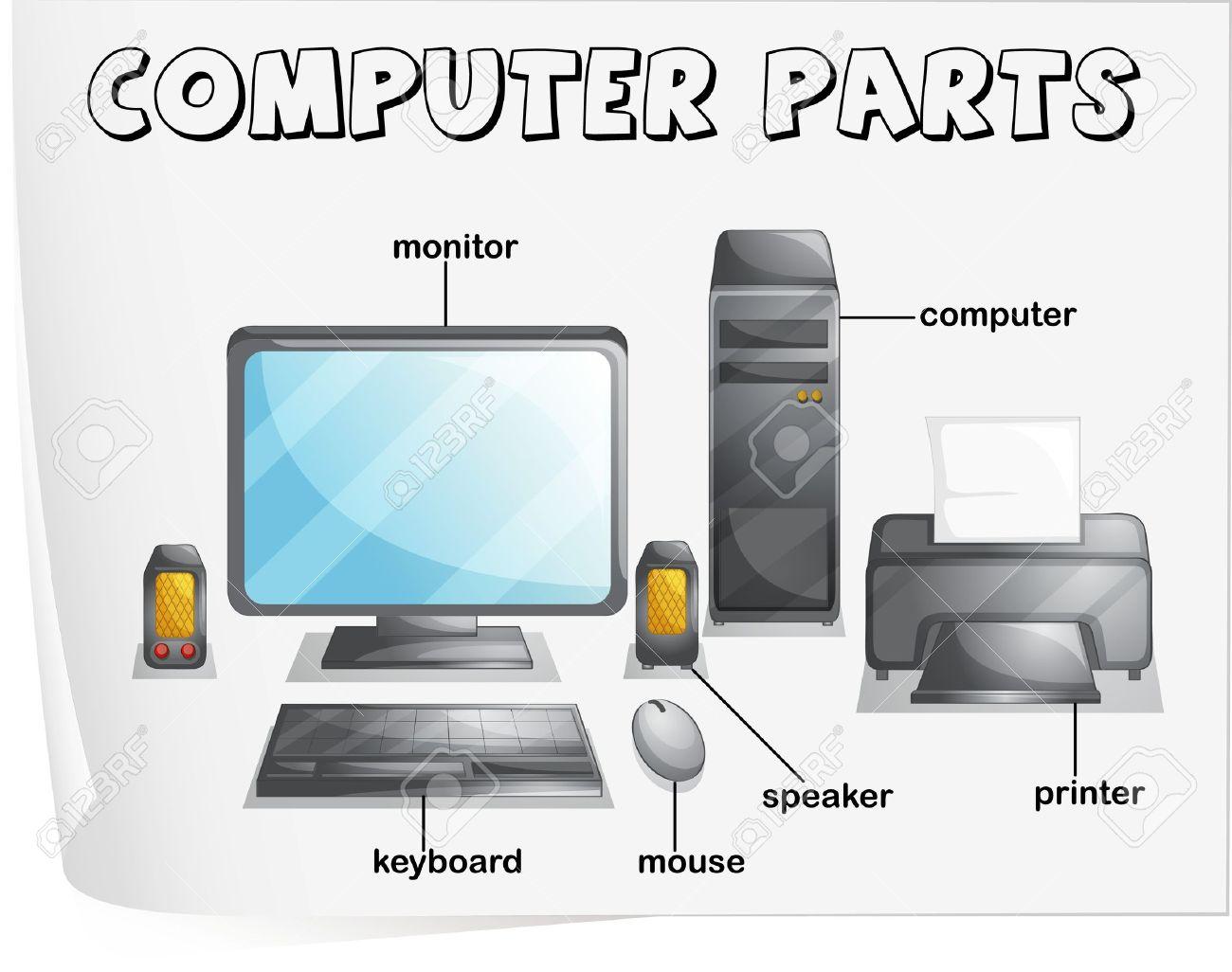 Label Computer Parts Worksheets