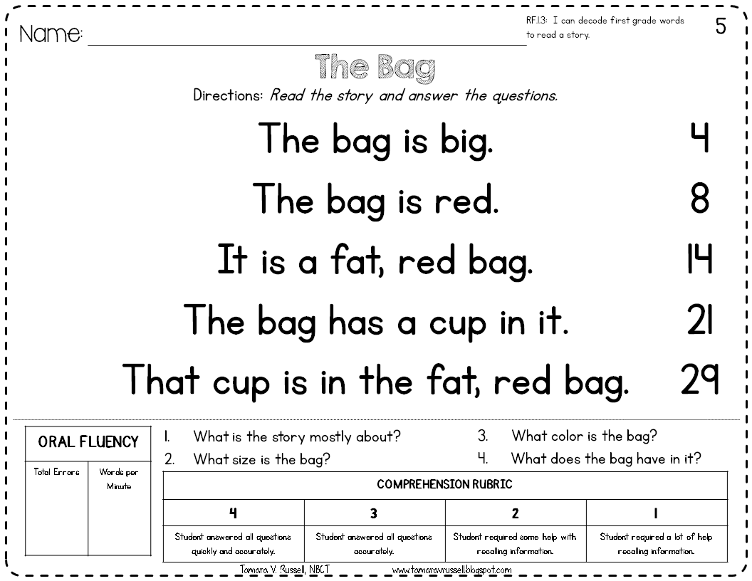 Basic Reading Worksheets For Kindergarten