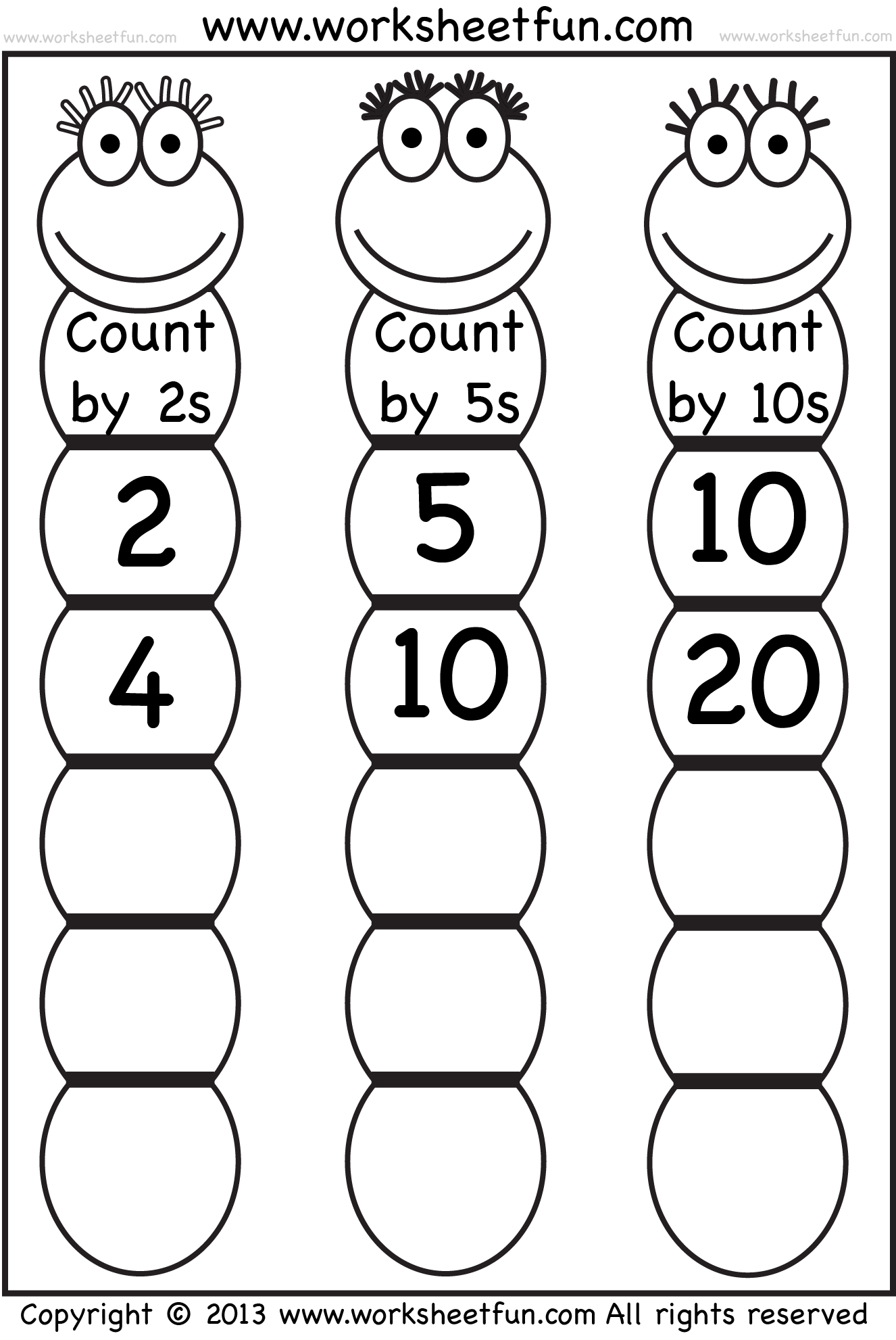 Collection Of Counting By 2 S Worksheets For Kindergarten