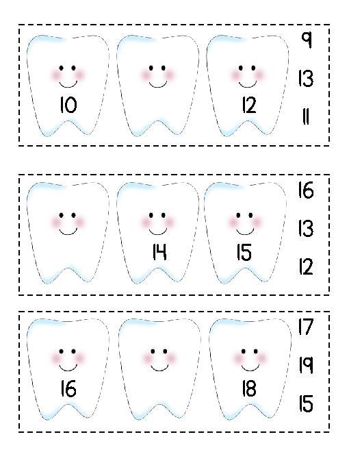 Dental Worksheets For Preschool
