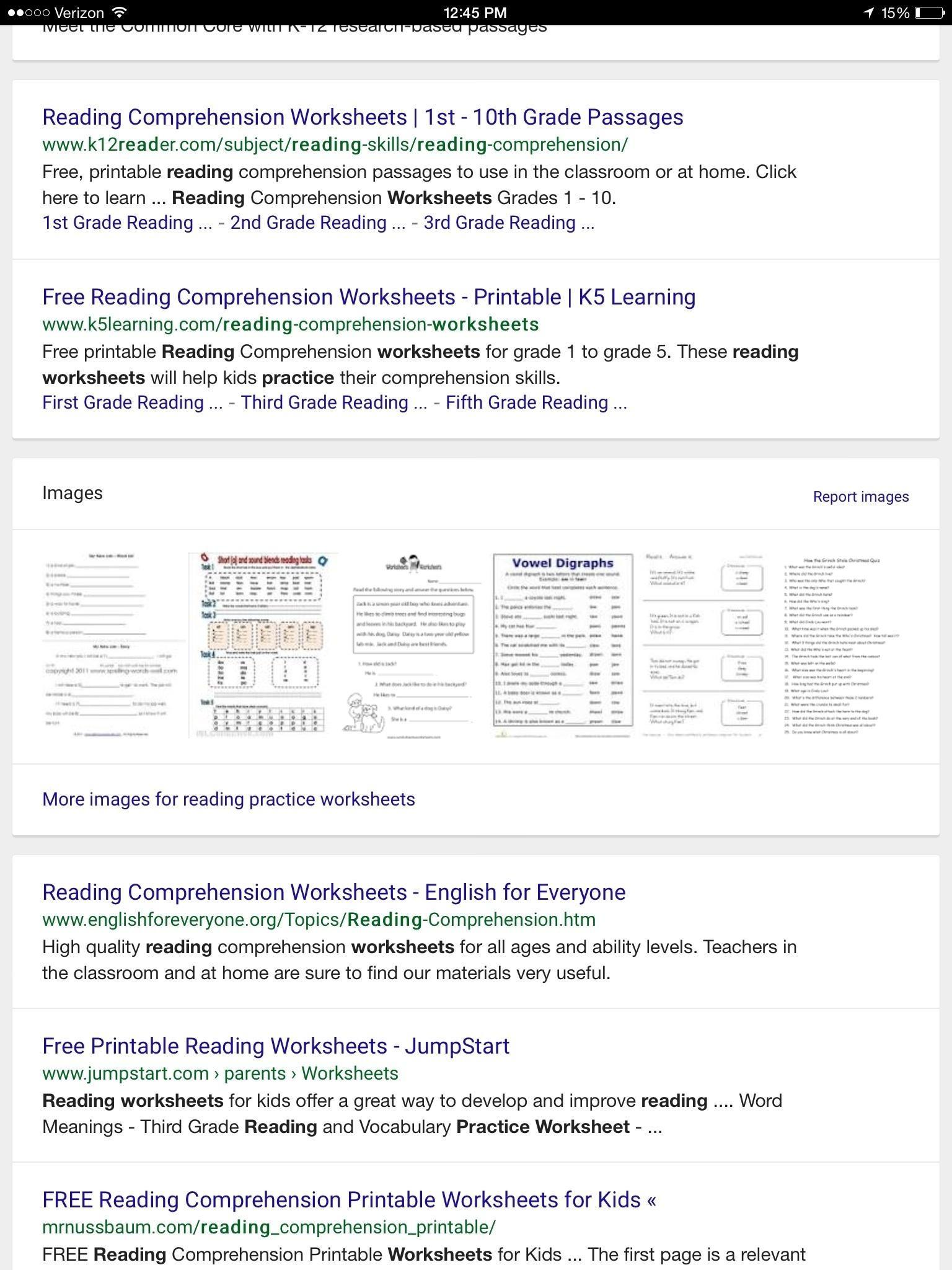 Free Printable Comprehension Worksheets For Grade 2