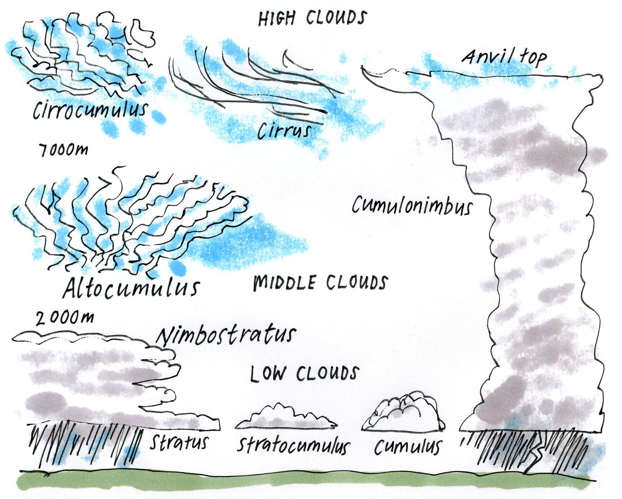 Cloud Classification Worksheets