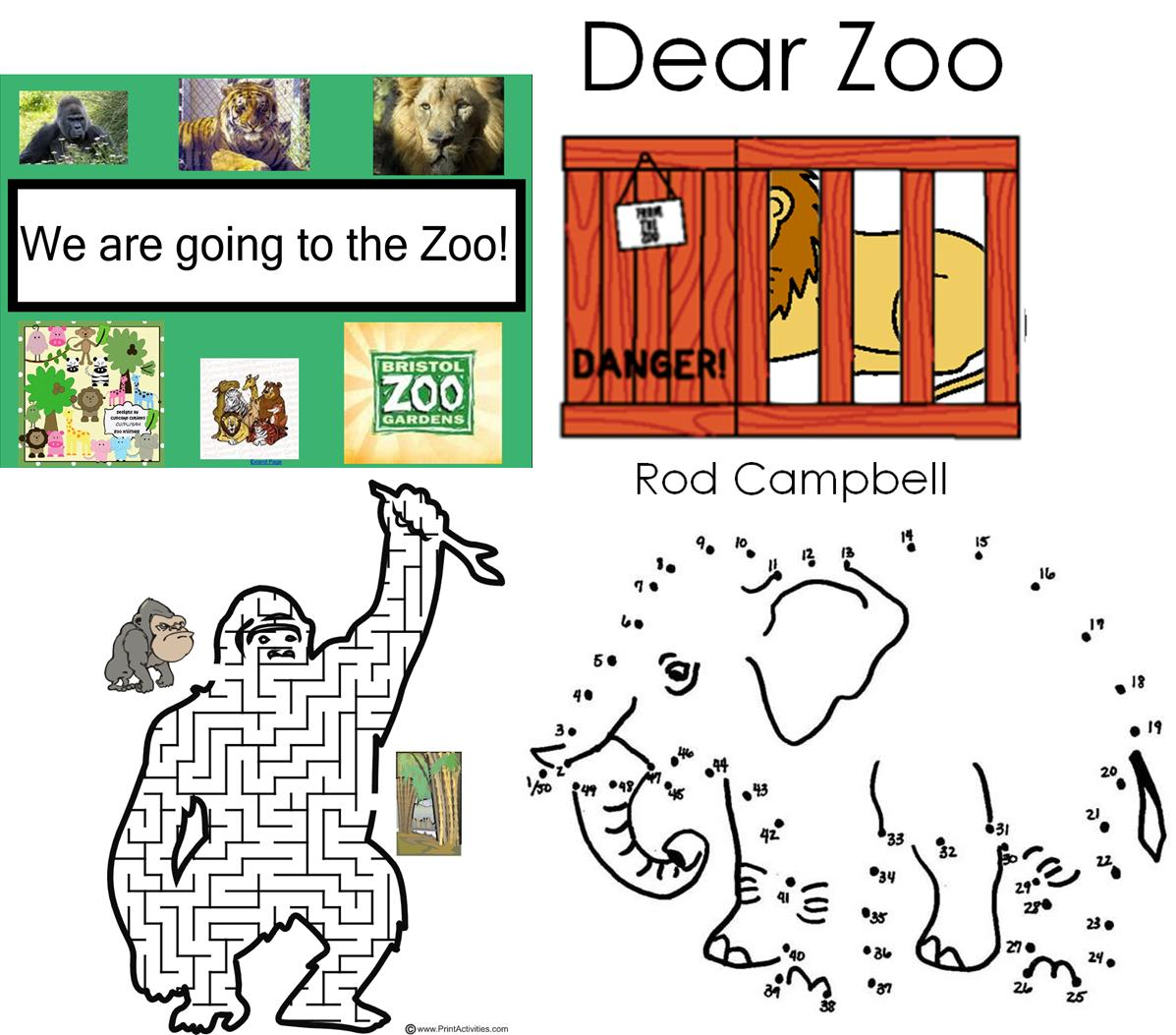 Dear Zoo Worksheets