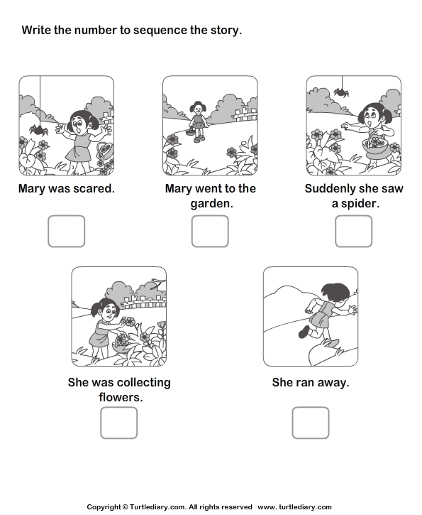 Picture Story Sequencing Worksheets