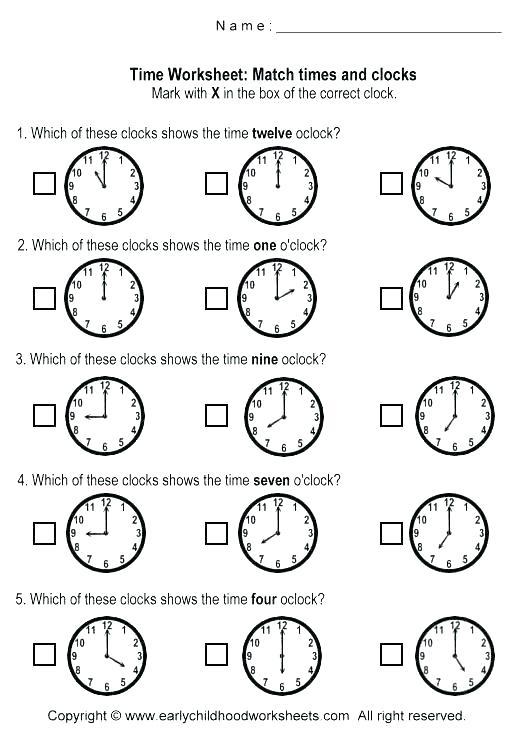 Time Of Day Worksheets For Kindergarten