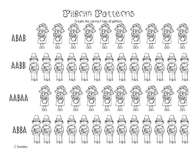 Patterning Worksheets For Kindergarten