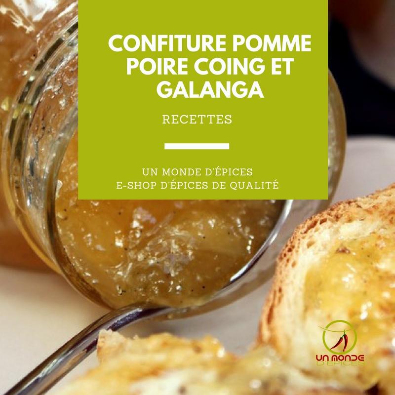 confiture pomme poire coing et galanga