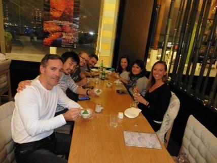 Cena en restaurante japonés en La Perla