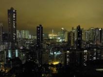 Vista nocturna de Hong Kong