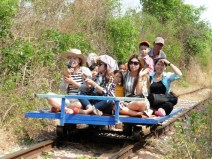 Bamboo train en Battambang