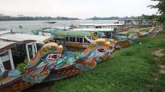 Barcos en el Río Perfume, Hue