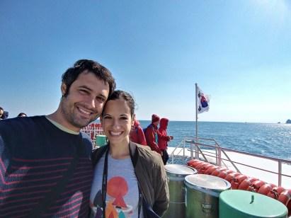 En el ferry camino a Udo