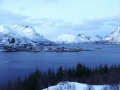 Mirador de Austnesfjorden al atardecer