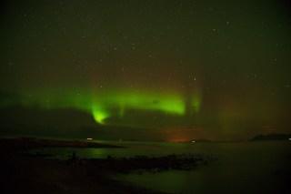 Aurora boreal en la zona de Laukvik
