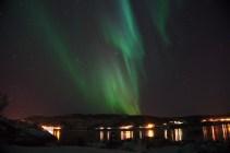 Aurora boreal en forma de cortina