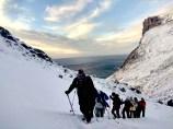 Trekking de Kvalvika, de vuelta