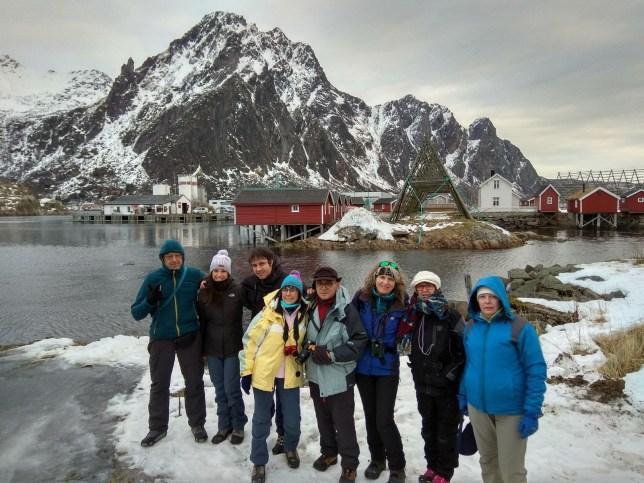 Foto de grupo en Svolvær