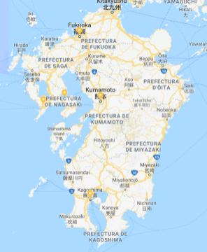 Kyushu, lugares visitados