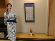 Con yukata en el ryokan de Unzen