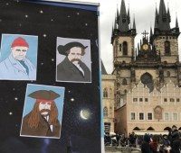 На главной площади столицы Чехии дети зачитали стихи Тараса Шевченко