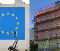 В Британии закрасили граффити Бэнкси, посвященную Brexit