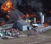 За сутки на химзаводе в Техасе прогремело два взрыва