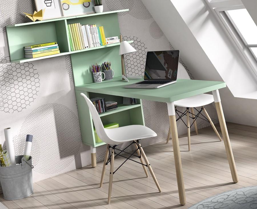 bureau avec etageres