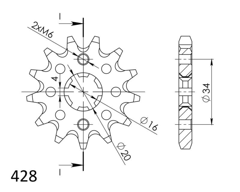 Kit de arrastre DID Standard para Suzuki RM 85 02-12