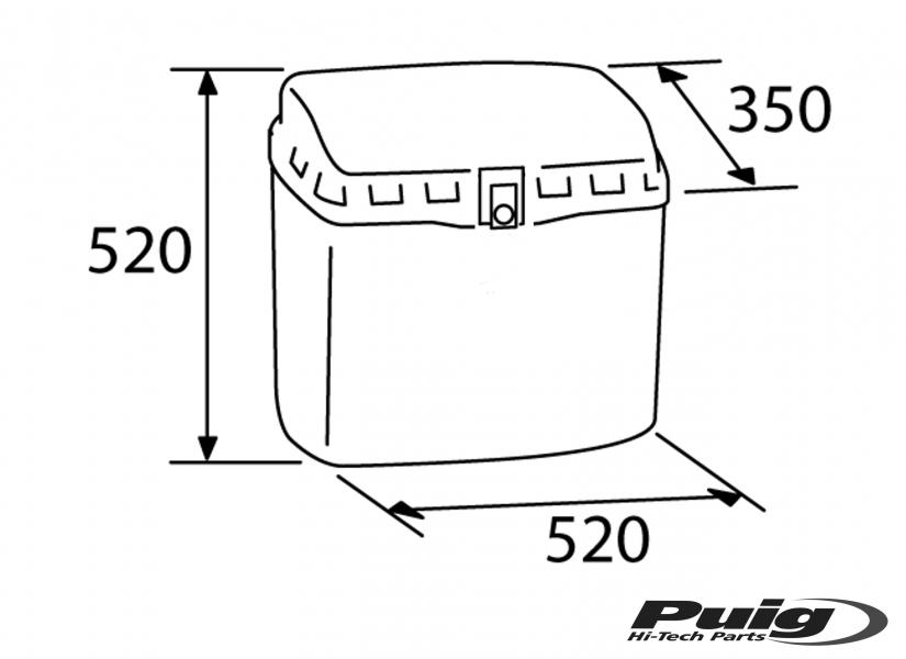 Baúl TOP Box con cerradura material polipropileno