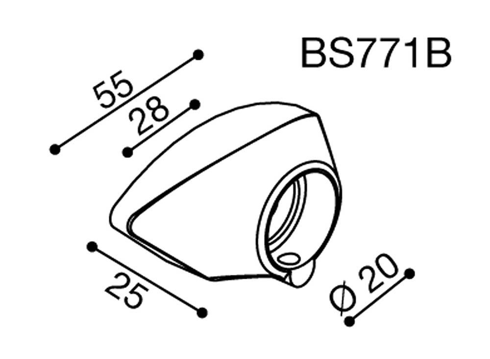 Adaptador de espejo BS771B Rizoma para Yamaha R6 08>