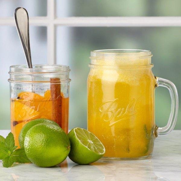 Ball 24 Oz. Glass Drinking Mason Jars - 4 Pack Unoclean
