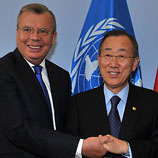 Photo: Mr. Yury Fedotov and Mr. Ban Ki-moon