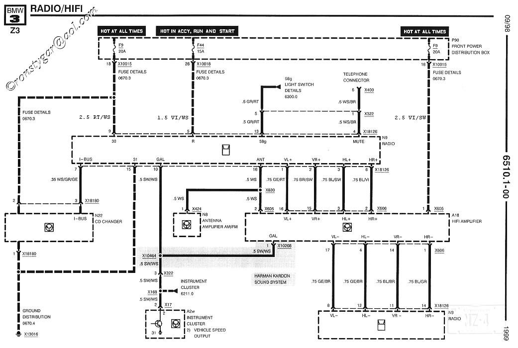 bmw e90 audio wiring diagram