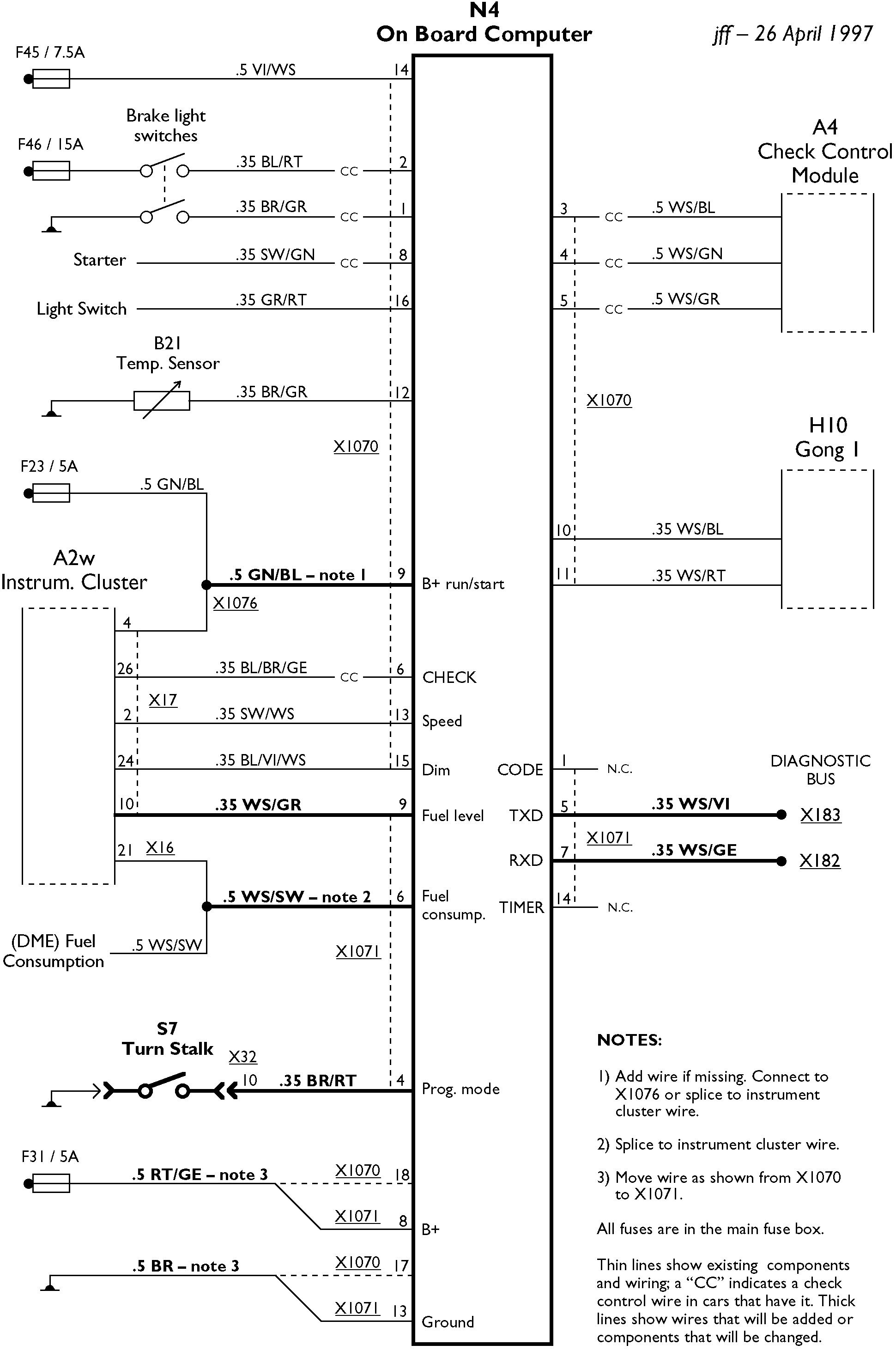 e36 diagnostic port wiring diagram 2002 dodge ram tail light 11 clip the terminal relay block back on to