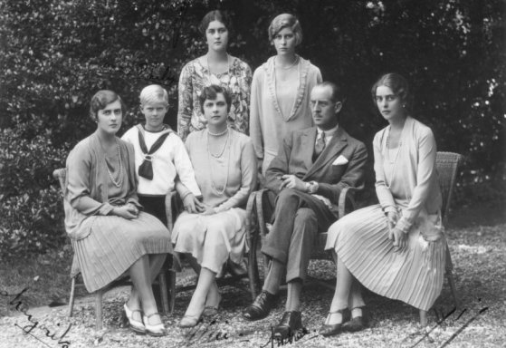 Prince Andrew and his family in 1928