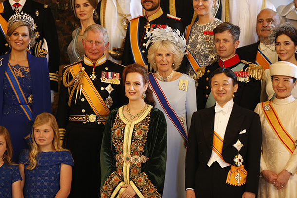 Lalla Salma with royals