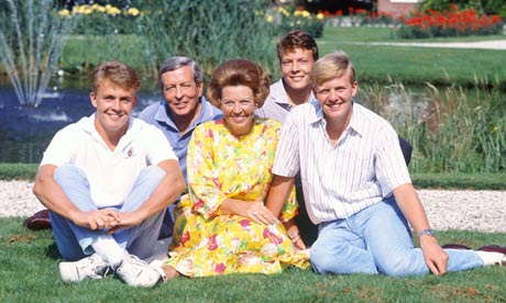 A young Prince Friso (left) with his family. photo: The Guardian/Rex Features