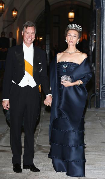Prince Guillaume with his wife, Princess Sibilla. photo: Zimbio