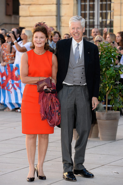 Prince Nikolaus and his wife, Princess Margaretha, at the wedding of Prince Félix of Luxembourg, 2013. photo: Zimbio