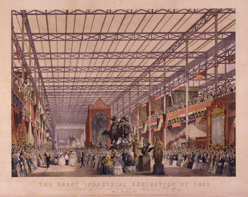 NPG D16397 The Great Industrial Exhibition Of 1851 Plate 2 Foreign Nave