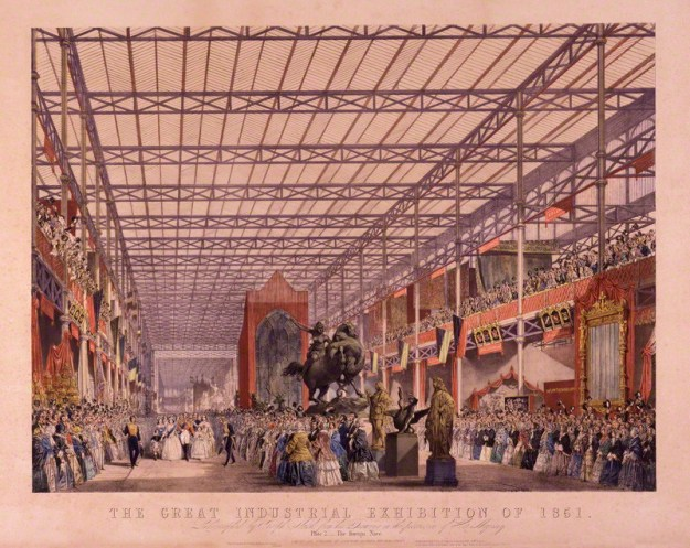 NPG D16397; The Great Industrial Exhibition of 1851. Plate 2. The Foreign Nave by Joseph Nash