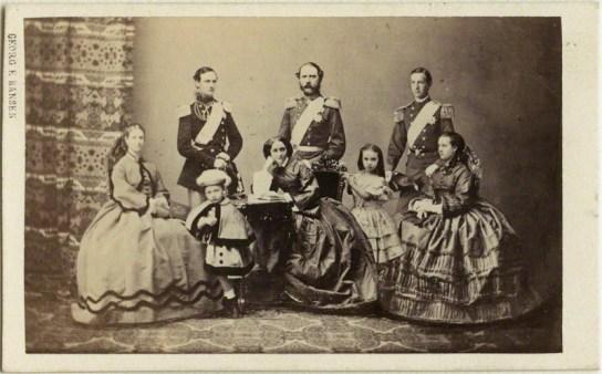 by Georg Emil Hansen, albumen carte-de-visite photomontage, 1862