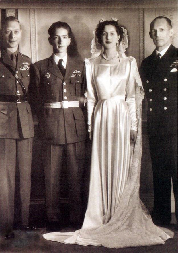 King Peter and Princess Alexandra on their wedding day. source: Royal Family of Serbia