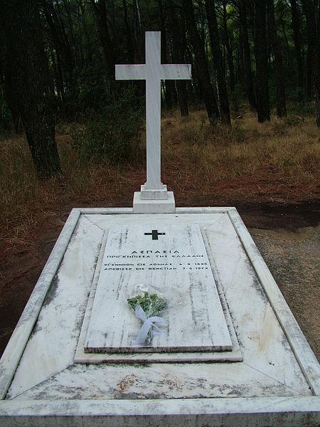 Aspasia's tomb at Tatoi. source: Wikipedia