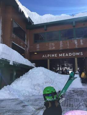 Roof clearing at Alpine, after (Photo: Nicole Matthews Swanson)