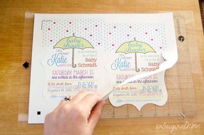 Baby Shower Invitations With Your Silhouette Unoriginal Mom