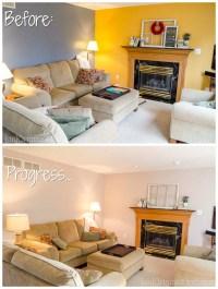Living Room Makeover, Step 1 - Paint! - unOriginal Mom
