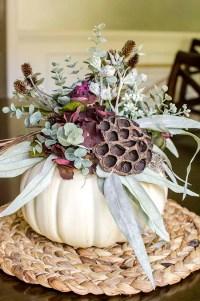 Faux Pumpkin Floral Centerpiece - unOriginal Mom