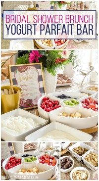 Bridal Shower Brunch Yogurt Parfait Bar - unOriginal Mom