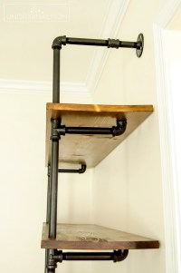 DIY Fixer Upper Pipe Shelving Tutorial - unOriginal Mom